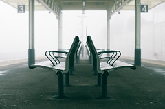 3 & 4 (Paul_Munford) Tags: urban mist slr london film 35mm dof minolta minoltax700 14 grain trainstation analogue agfavista200 poundlandfilm mcrokkor58mm
