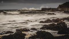 Savage Seas (Augmented Reality Images (Getty Contributor)) Tags: canon coastline harbour landscape leefilters longexposure portknockie rocks scotland sea seascape storm tide water waves