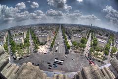 Top of the Arch de Triumph (shutterBRI) Tags: city travel paris france streets architecture europe top parisian archdetriumph champslyses