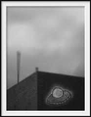 friends of banksy (Andrew C Wallace) Tags: blackandwhite bw streetart lensbaby ir graffiti collingwood alien australia victoria ufo infrared brickworks takeoff tiltshift m43 nikon50mmf14 microfourthirds tilttransformer olympusomdem5