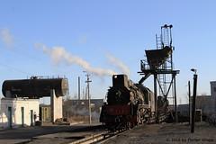 I_B_IMG_7377 (florian_grupp) Tags: china railroad train landscape asia mine desert muslim railway steam xinjiang mikado locomotive ore js steamlocomotive 282 opencastmine yamansu
