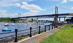 The Tamar bridges, Saltash, Cornwall (Baz Richardson) Tags: cornwall devon rivers saltash rivertamar railbridges roadbridges tamarbridges