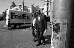 Street scenes (__ _) Tags: life portrait urban blackandwhite men film finland walking helsinki suits europe downtown candid streetphotography analogue scenes shootfilm believeinfilm shootanalogue