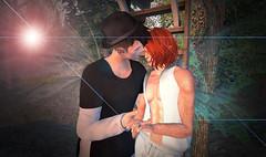 Sweet Nothings (niki wirefly) Tags: people male men love wings couple sl fairy fantasy secondlife fairey niki fae lufian