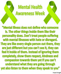 Mental Health Awareness Week (geoffreyw@kinect.co.nz) Tags: angel flyer health hazel week awareness mental