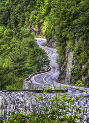 Winding Mountain Rd (jsleighton) Tags: road trees mountain stone wall landscape winding