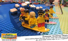 Summer Surfing Tours (EVWEB) Tags: sea beach surf lego wave surfing wipeout vacancy minifigures tuorist
