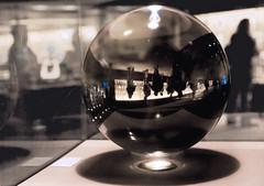 Quartz Crystal Quiz (beambendr) Tags: white black museum visual cortex crystalball