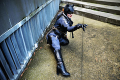 Cat - 2 (Smith-Bob) Tags: comic comics comicbooks dc marvel manga anime hero heroes villain villains heroesvillains superhero superheroes good bad evil cosplay costume film tv popculture armageddon comiccon ozcomiccon supanova animaga amc amce australianmoviecomicexpo amcexpo people street pax paxaus woman women catwoman catsuit cat cats black blackcat leather latex lycra mask boots pose model gloves lover foe femmefatale beautiful attractive beautifulwoman whip batman spiderman