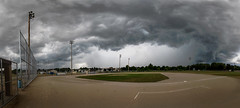 Afternoon storm (Kevin Povenz) Tags: 2016 july kevinpovenz westmichigan michigan jenison ottawa ottawacounty hudsonville weather storm stormyweather stormy coldfront rain thunder thunderstorm clouds canon7dmarkii sigma1020 baseball field sport outdoors outside
