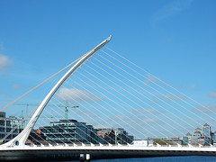 Huge Harp (mikecogh) Tags: bridge dublin design cables flowing harp riverliffey innovative samuelbeckettbridge