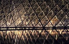 Muse du Louvre (bazs_eos) Tags: longexposure paris france museum night lights nightshot pyramid louvre