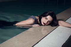 Lina-1 (Zolfo) Tags: color water pool girl brunette blackandwithe