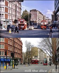 Clerkenwell Road`1977-2013 (roll the dice) Tags: uk travel trees windows london art history classic buses architecture traffic general camden transport collection flats holborn local streetfurniture clerkenwell cornershop ec1 oldandnew dwellings 171 wc1 pastandpresent londonist bygone hereandnow goahead
