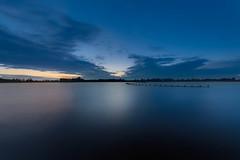 Starrevaart Sunset (Tom Roeleveld) Tags: longexposure reflection water night meer cloudy bluehour steden landschap stompwijk starrevaart canon1740f4lusm canoneos5dmarkii