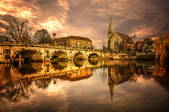 Gorgeous Shrewsbury (Remastered) (Serge Freeman) Tags: uk bridge england reflection church architecture river photography town view shrewsbury kris hdr photomatix kros kriskros sergefreeman