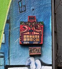 HH-Installations 812 (cmdpirx) Tags: wood urban streetart color colour art cutout painting tile stencil paint panda artist cd glue hamburg kachel cement can spray tape tiles lp drug hh farbe schablone strassenkunst zement styropor styrodur styropur microballoon