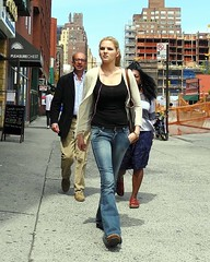 pleasure chest (omoo) Tags: girl streetscene sidewalk blonde bluejeans prettygirl afterlunch pleasurechest assured streetconstruction dscn2945 handinherpocket seventhavenuesouthatcharlesstreet