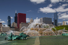 Picture Perfect (player_pleasure) Tags: chicago water fountain clouds downtown cityscape buckinghamfountain windycity chicagoist
