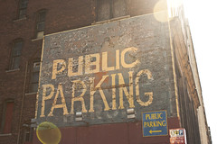 "Public Parking on Huron ghost sign • <a style=""font-size:0.8em;"" href=""http://www.flickr.com/photos/59137086@N08/8732835917/"" target=""_blank"">View on Flickr</a>"