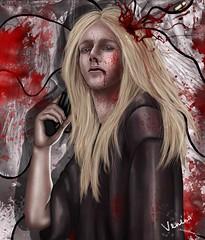 The end ( Venena ) Tags: art digital death blood kill shot pistol mitrofan venena onthevergeofmadness