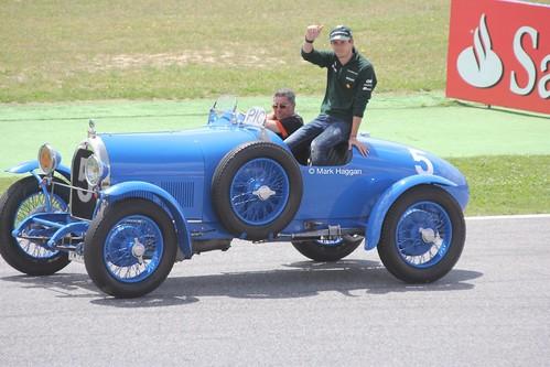Charles Pic at the Drivers' Parade at the 2013 Spanish Grand Prix
