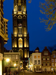 De Domtoren, Utrecht. (George Ino) Tags: nightphotography copyright holland utrecht thenetherlands citycenter centrum oudegracht zadelstraat servetstraat availablelightphotography trajectumlumen stmartinscathedralutrecht mygearandme stmaartensbrug georgeinohotmailcom