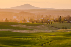 The Town of Palouse Sunset (Ryan McGinty) Tags: sunset usa landscape town washington wheat farmland dust palouse whitmancounty steptoebutte ryanmcginty