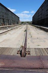 Platform rails (tomman) Tags: railroad yards urban yard train foundry factory decay albuquerque rail tvshowlocation railyard boiler filmlocation revitalize macgruber breakingbad terminatorsalvation