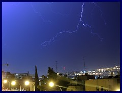 (moshek70) Tags: sky weather clouds israel jerusalem lightning   cumulonimbus