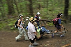 Speeding through the trails (PowellRiverMobilityOpportunitiesSociety) Tags: family friends nature sunshine river coast back teams walks country trails together powell society mobility opportunities disability accessibility friendships trailrider