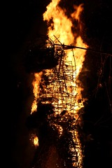 Wicker man looking sad (Fenifur) Tags: man fire mayday wicker beltane beltain beltaine wickerman butser