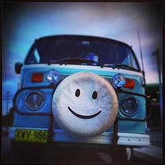 Happy Kombi (Elise Arod) Tags: blue smile car vw sydney smartphone van kombi android bluemoment cellphonephotography vintagefeel squarephotos mobilephonephotography instagram htconex htconexandroidphone