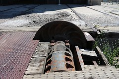 Platform wheels (tomman) Tags: railroad yards urban yard train foundry factory decay albuquerque rail tvshowlocation railyard boiler filmlocation revitalize macgruber breakingbad terminatorsalvation