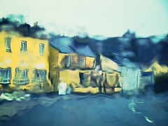 Impressionist Street On A Wet Day (Oceanraider........ On & Off for summer :)) Tags: road street ireland houses abstract rain documentary mayo achill impressionist panasoniclumix colour2013