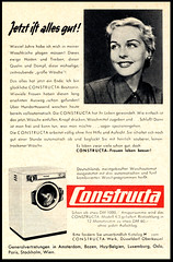 Constructa (Harald Haefker) Tags: promotion vintage magazine germany ads print advertising deutschland pub publicidad reclame ad machine retro anuncio advertisement clothes nostalgia german 1950s advert 1957 werbung publicit magazin washing washer reklame deutsch affiche publicitario deutsche pubblicit waschmaschine rclame constructa pubblicizzazione