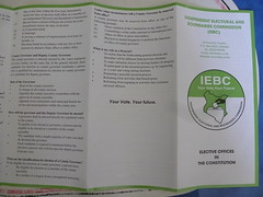 Election leaflet (prondis_in_kenya) Tags: election kenya nairobi constitution leaflet 2013 4march hotdryseason