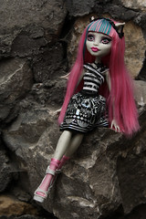 Rochelle's place ~ 132/365 (Hamsteh) Tags: pink girl monster stone doll gargoyle figure mh rochelle monsterhigh rochellegoyle
