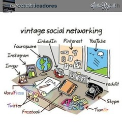 #reinstagram @naterciatiba e  @comunicadores: Vintage Social Networking :-) (Sam Shiraishi (@samegui @maecomfilhos)) Tags: square squareformat iphoneography instagramapp uploaded:by=instagram