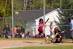Jayde at bat (Just me...Val) Tags: canon ball team uniform bat softball catcher base batter homeplate 2013