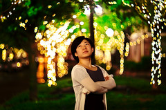 Night shot (Arutemu) Tags: woman girl night canon asian femme nighttime fille         eos50d