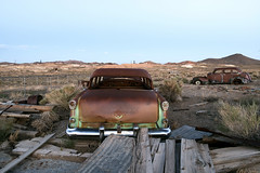 Cars (Curtis Gregory Perry) Tags: old cars abandoned nikon rust automobile desert nevada 1940 champion 1954 studebaker 88 oldsmobile goldfield             d800e