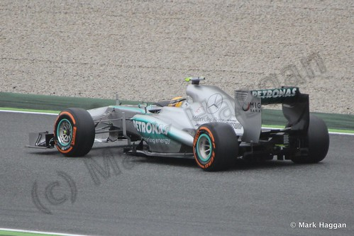 Lewis Hamilton in Free Practice 1 at the 2013 Spanish Grand Prix
