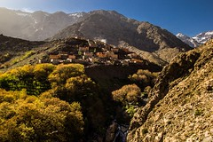 Imlil in the High Atlas Morroco (Shelbypoppit) Tags: life africa street city longexposure light portrait snow mountains landscape photography market northafrica muslim spice working culture morroco busy atlasmountains berber maroc atlas marrakech souk medina marrakesh souks smelly marroc riad highatlas low cinamon imlil light