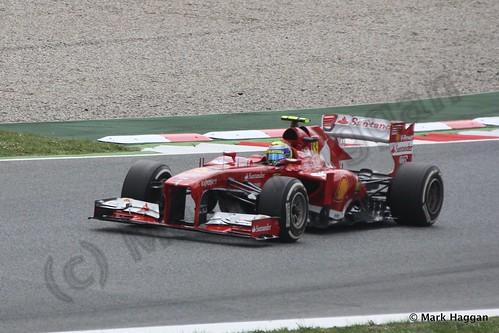 Felipe Massa in Free Practice 3 for the 2013 Spanish Grand Prix