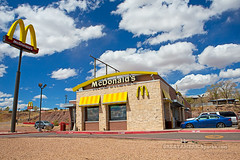 McDonald's (ezeiza) Tags: new sky food newmexico sign clouds mexico restaurant drive route66 fastfood fast 66 mcdonalds route drivethru through nm grants drivethrough thru