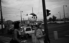 biiiiiig smile (gato-gato-gato) Tags: street leica bw white black blanco monochrome digital 35mm person flickr hungary noir strasse urlaub negro budapest streetphotography pedestrian human monochrom weiss blanc ungarn ferien manualfocus hu schwarz onthestreets hungaria passant m9 mensch fussgnger manualmode gellrthegy strase 2013 leicasummiluxm35mmf14asph manuellerfokus gatogatogato fusgnger leicam9 gatogatogatoch wwwgatogatogatoch