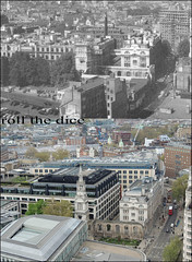 View From St Pauls Cathedral`1959-2013 (roll the dice) Tags: above uk bus london art history classic architecture site construction ruins sad view traffic barbican collection dome damage ww2 wren local royalmail blitz changes farringdon height ec1 oldandnew newgate paternoster pastandpresent londonist squaremile bygone hereandnow goldengallery