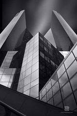 Headquarter (S.D.G Photographie) Tags: city longexposure blackandwhite bw white black paris france building art architecture contrast photoshop photography blackwhite artist cityscape fineart fine perspective creative ladefense architectural creation lee combine 7d series concept conceptual paysage defense franais edit combination fineartphotography sdg poselongue leefilter leefilters bigstopper 16stops sebastiendelgrosso