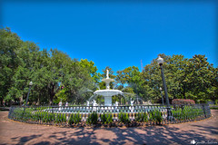 Forsyth Fountain (GarrettAndersonPhotography) Tags: park street fountain saint st canon ga john river georgia photography catholic cathedral fort historic savannah 1022 pulaski forsyth t4i
